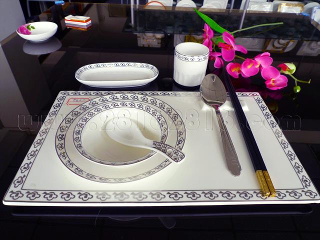 市场批发酒店陶瓷摆台餐具促销酒店陶瓷餐具 宴会摆台餐具 典雅台面