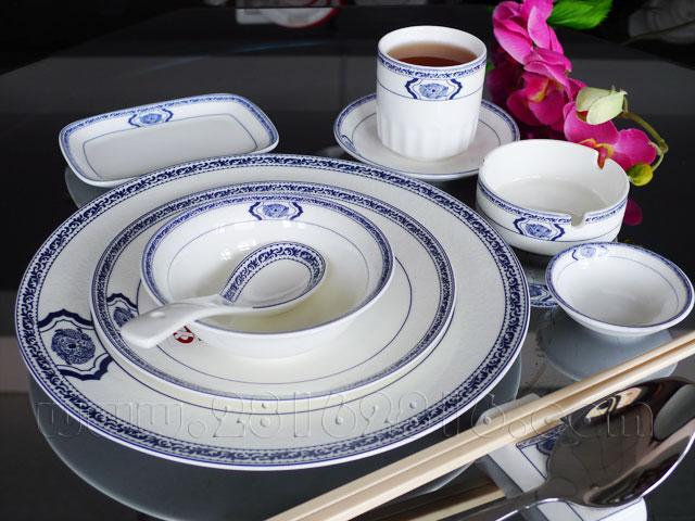 时尚典雅摆台餐具 高级台面餐具 酒店摆台餐具 中国红餐具 中式宴会