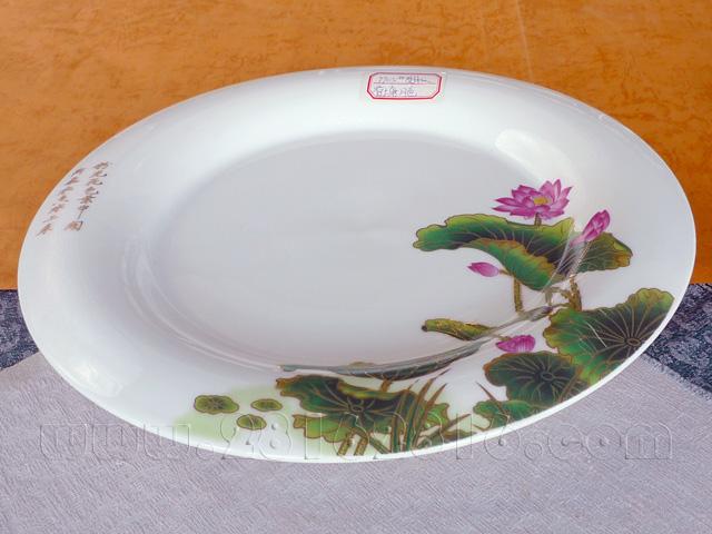 a0250#莲花荷花素食馆餐具|宴会摆台餐具|-酒店用品—