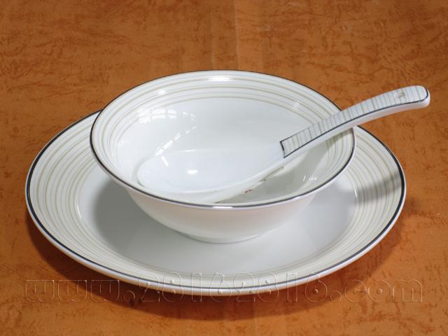 高档厅台餐具 摆台花边盘 品牌酒店用品 彩边盘餐具 豪华包房餐具