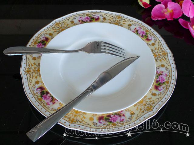 西餐主盘子西餐餐具 英式菜肴英式西餐-酒店用品—宾