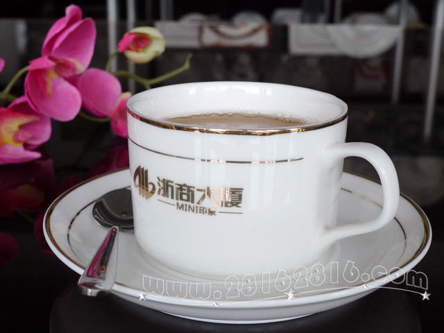 jj0051#浙商大厦欧式咖啡杯 生产星级宾馆餐具厂家知名宾馆摆台餐具